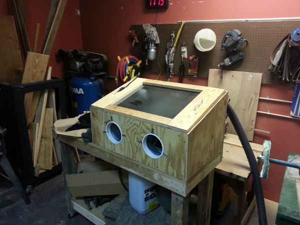 Sandblasting cabinet operational with first results « Midsouth ...